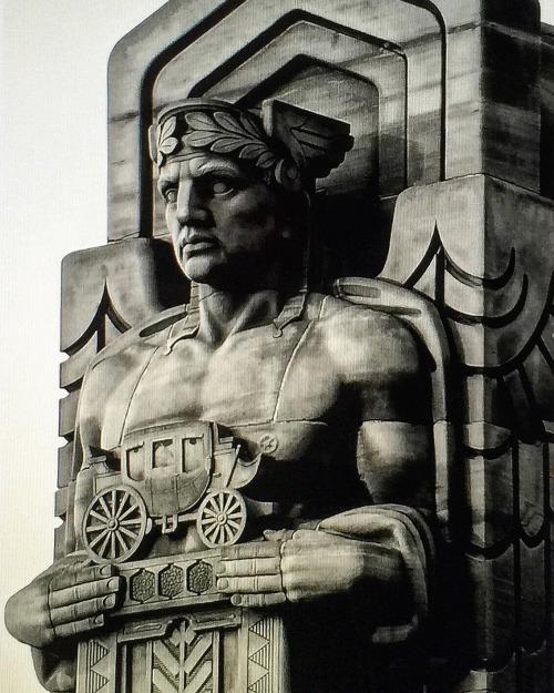 Art Deco architectural detail,Ohio