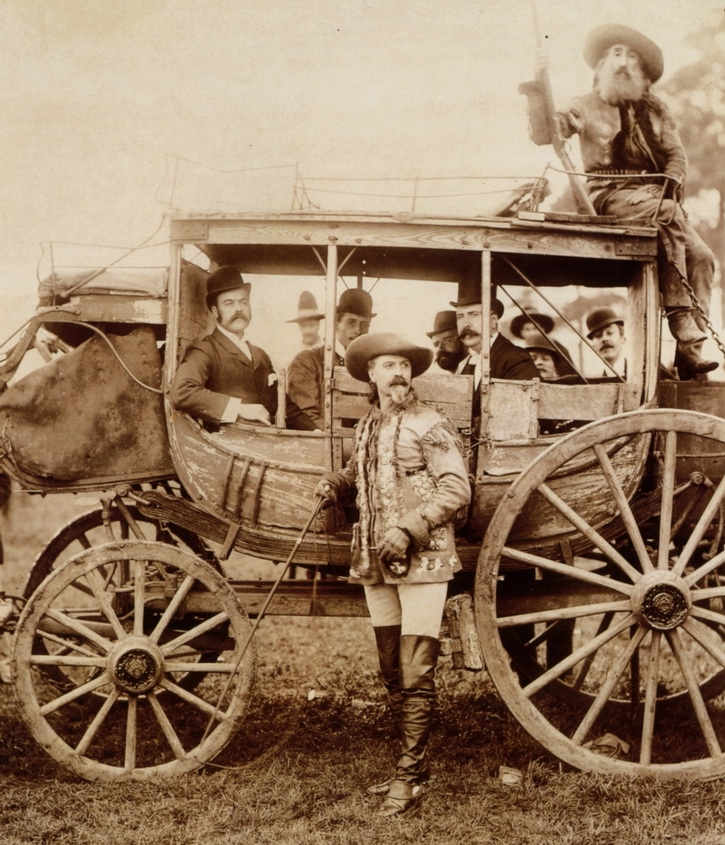 Buffalo Bill and the stagecoach to Deadwood