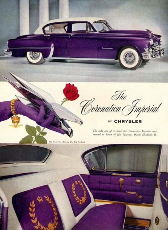 The very purple 1952 Chrysler Coronation Imperial in honour of the coronation of Queen ElizabethII