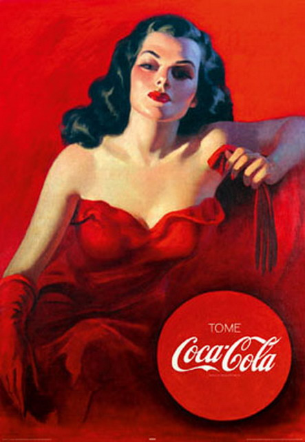 Vintage Coca Cola ad – the lady in red