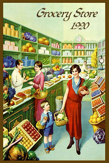 Grocery store, 1920