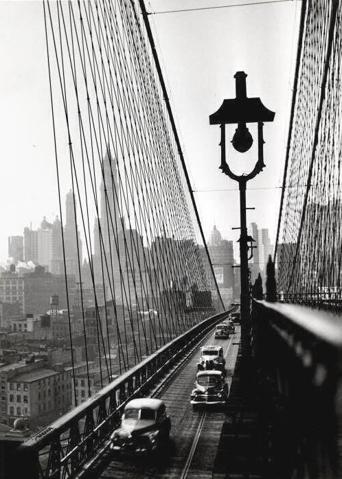 Brooklyn Bridge, NYC, 1946, by EstherBubley