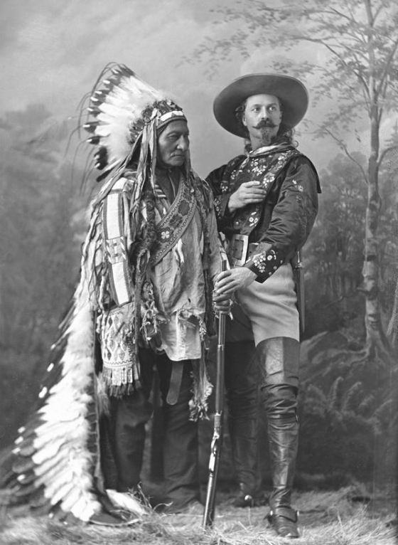 Sitting Bull and Buffalo Bill, circa 1885
