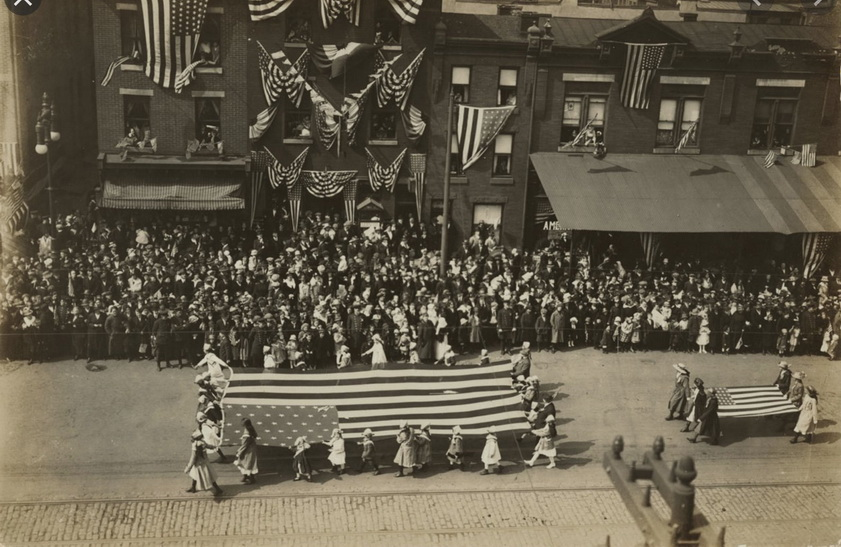 The 1918 Philadelphia parade that ended up being the start of the great influenza epidemic in the US