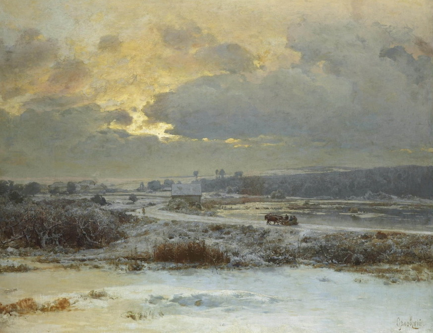 Ukranian winter scene by VladimirOrlovsky