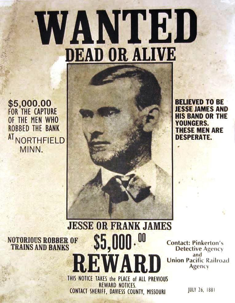 Wanted: Jesse James,1881