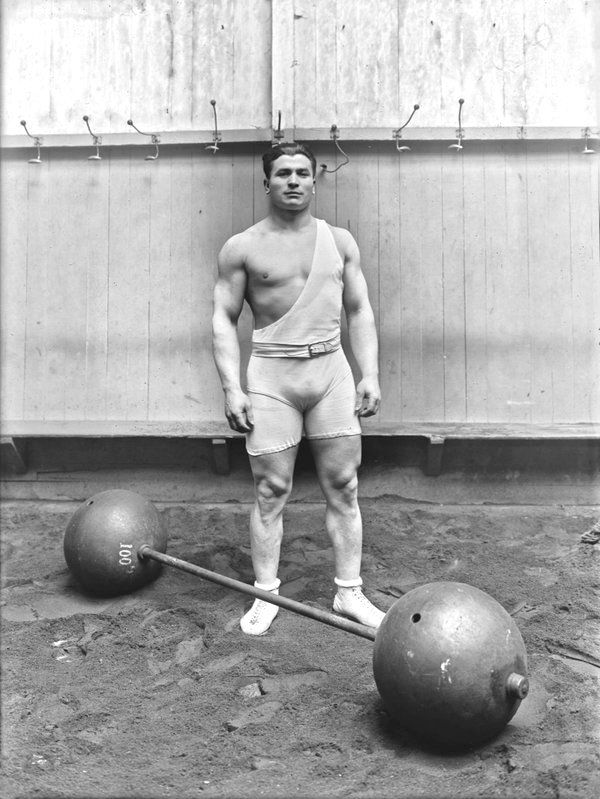 Vintage weight lifter