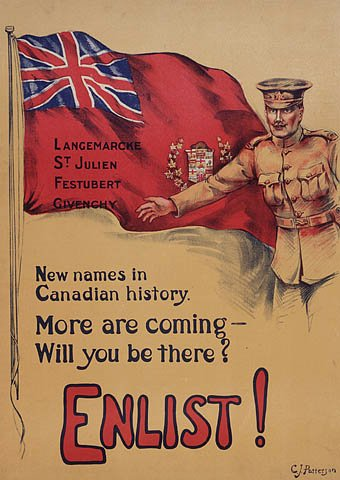 Canadian recruitment poster, WWI