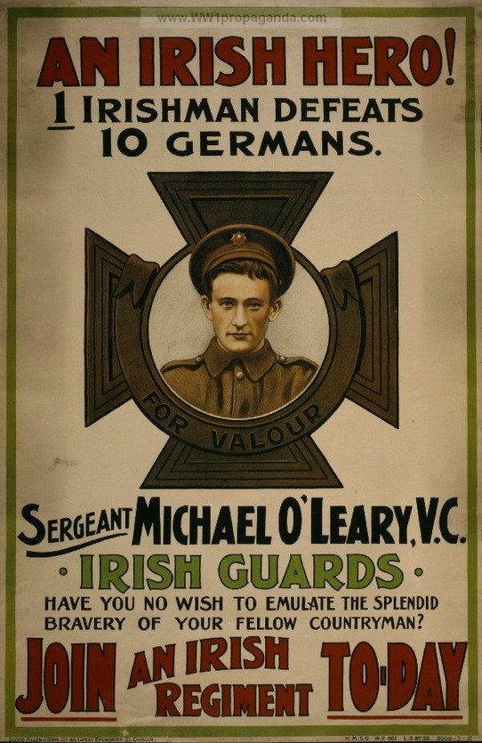 Be an Irish hero! (WWI recruitment poster)