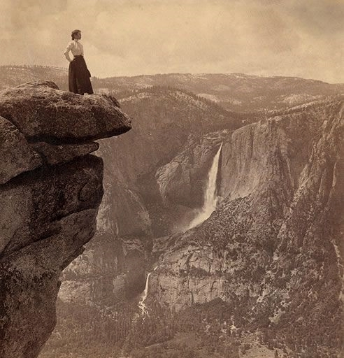 Woman at Yosemite, circa 1900
