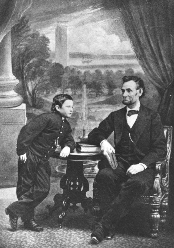 Abraham Lincoln and son, 1860s
