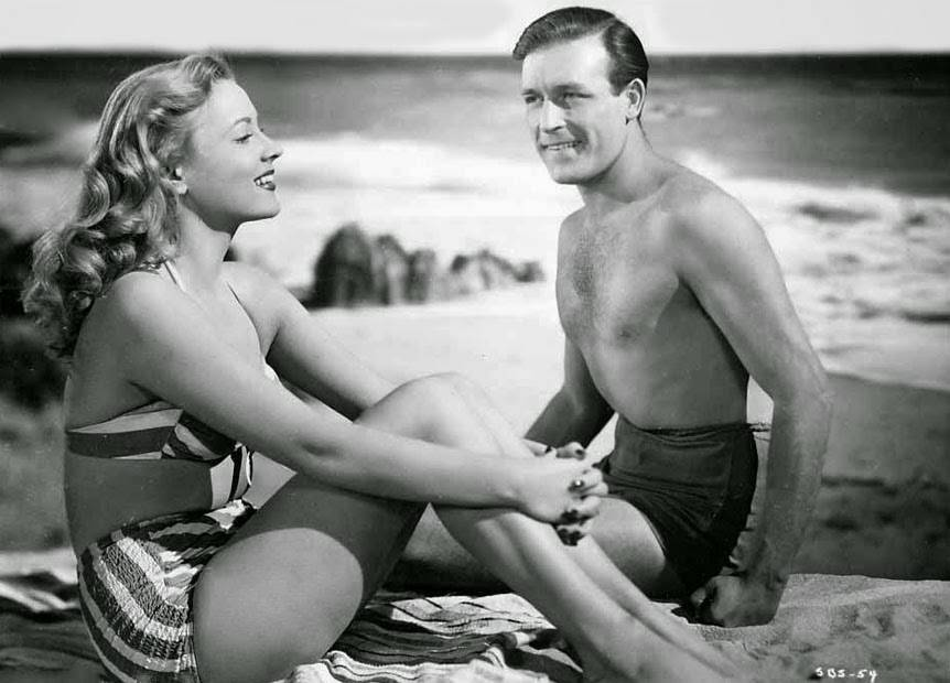 """Anne Jeffreys and Lawrence Tierney in  """"Step By Step"""",1946"""