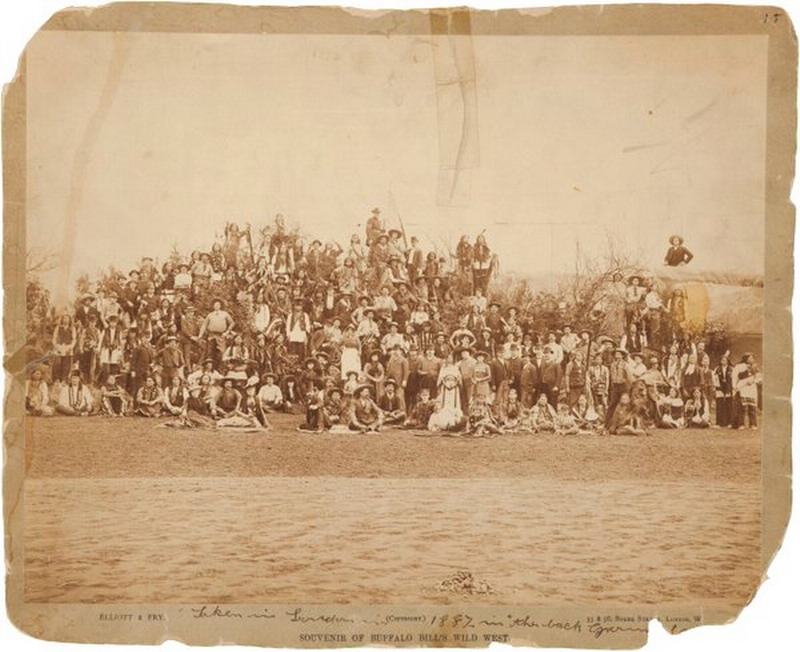 Buffalo Bill's Wild West Show cast photograph, 1887