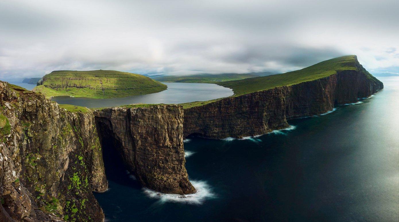 Lake on an island in the FaeroeIslands