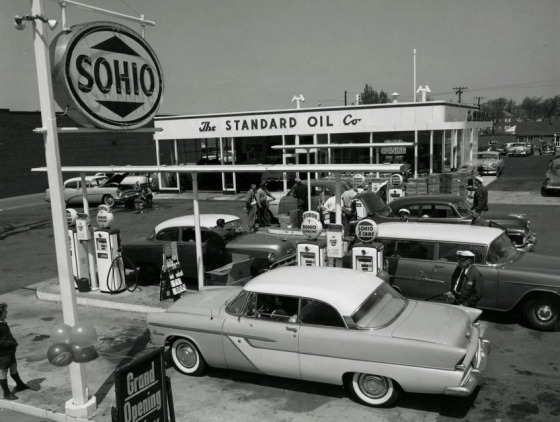 GAS STATION OPENING 50s