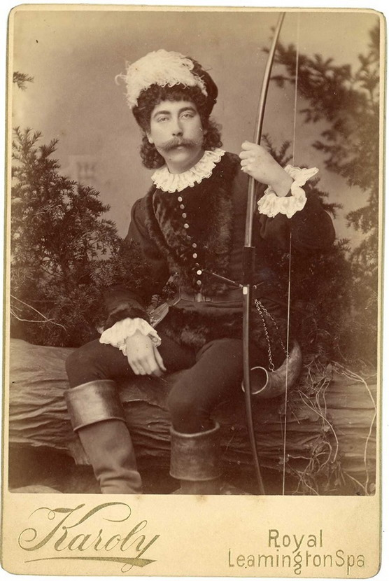 Actor dressed as a hunter, 1800s
