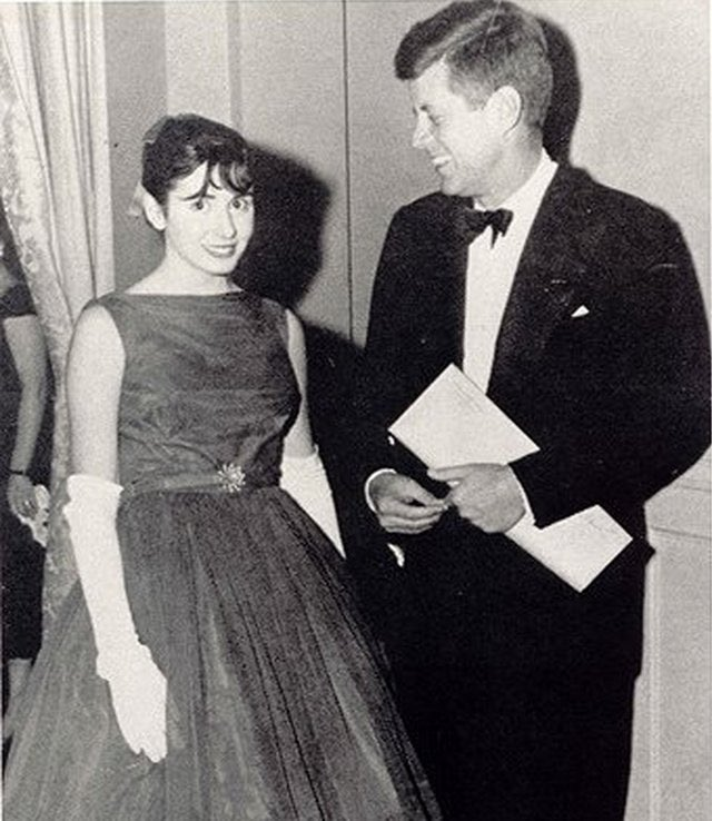 JFK and a young Nancy Pelosi, early 1960s