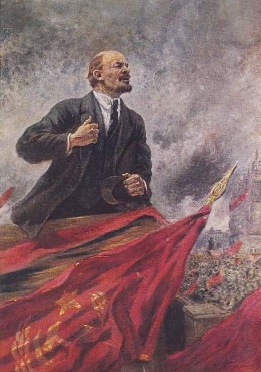 Lenin leading the masses during the Russian Revolution (let me know how that works out)