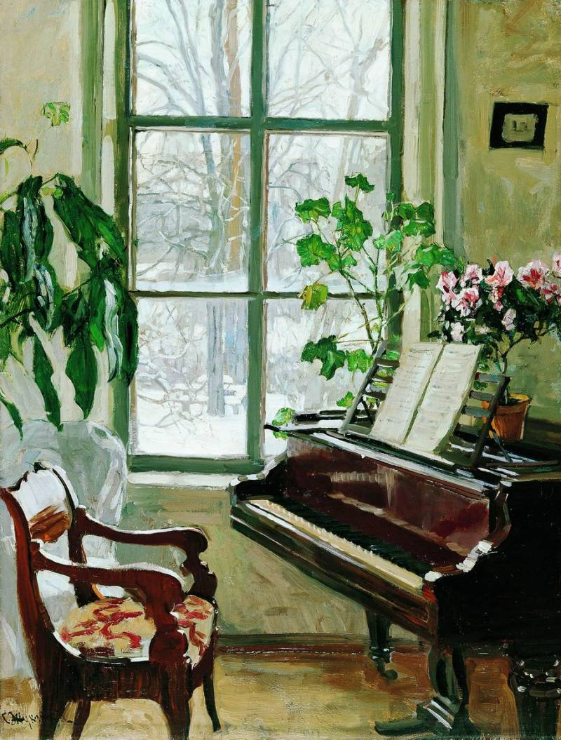 "Stanislav Zhukovsky ""Interior With a Piano"""