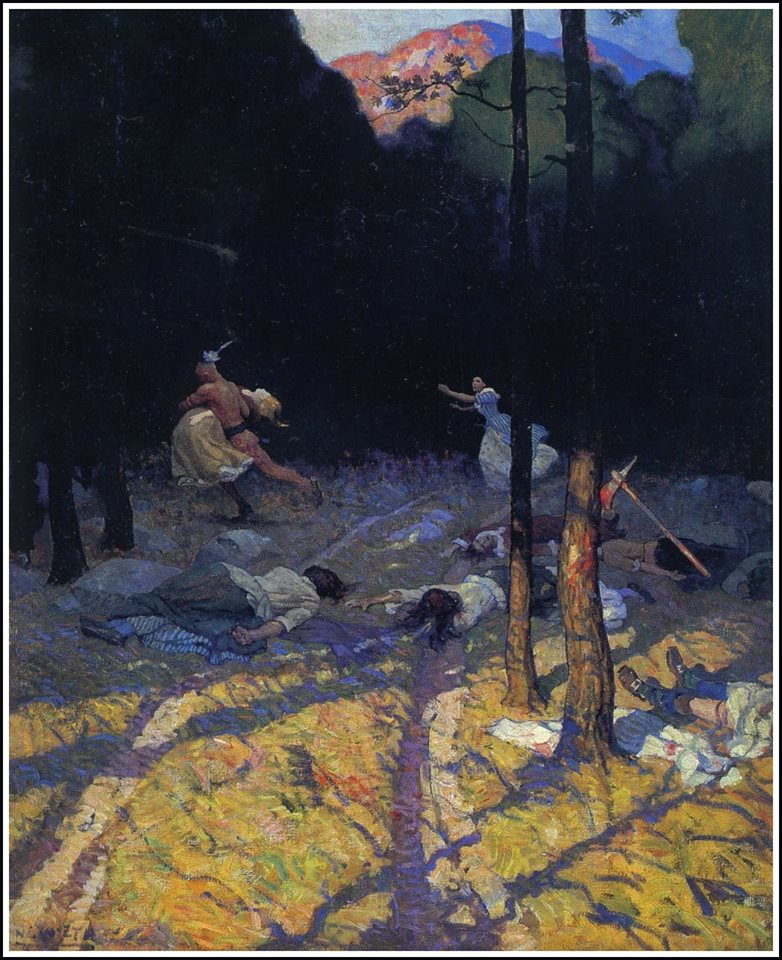 """Massacre"" by N.C. Wyeth"
