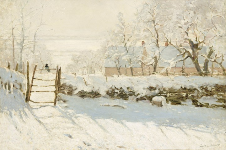 """""""Magpie in the snow"""" by ClaudeMonet"""