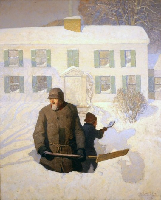 Painting by N.C.Wyeth