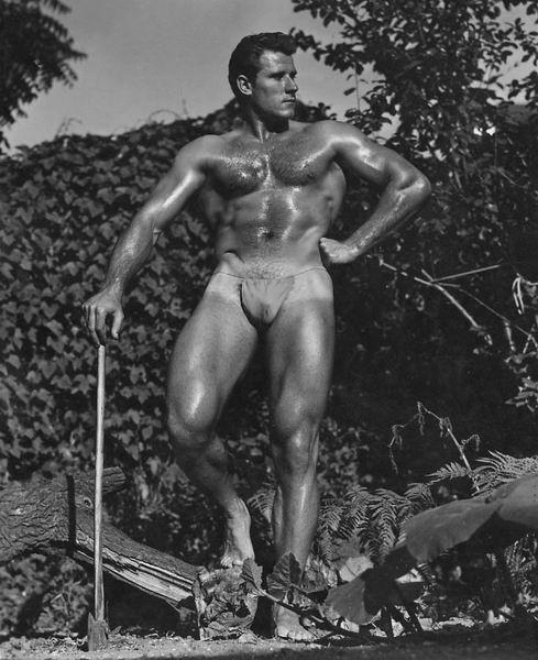 Physique era lumberjack model,1950s