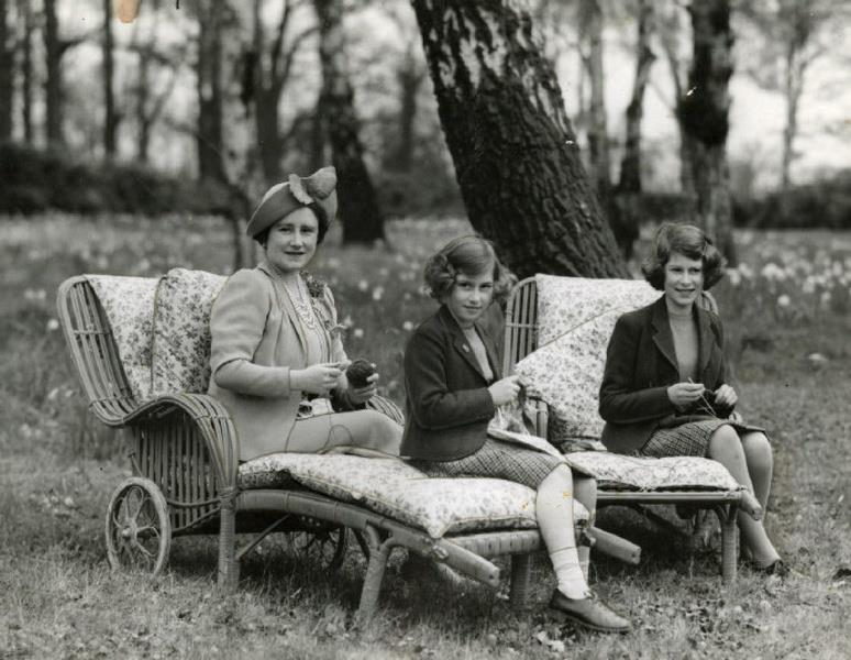 The Queen Mother with Princesses Margaret and Elizabeth (later QEII),UK,1930s