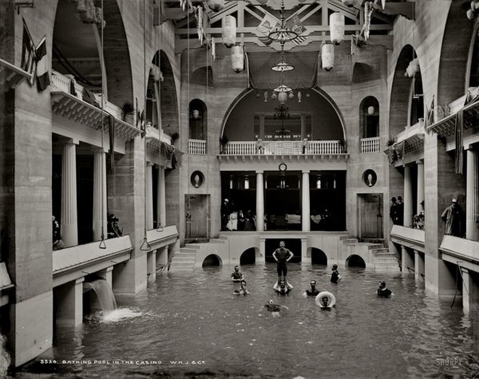 Indoor pool at the casino in St. Augustine, Florida, circa1910