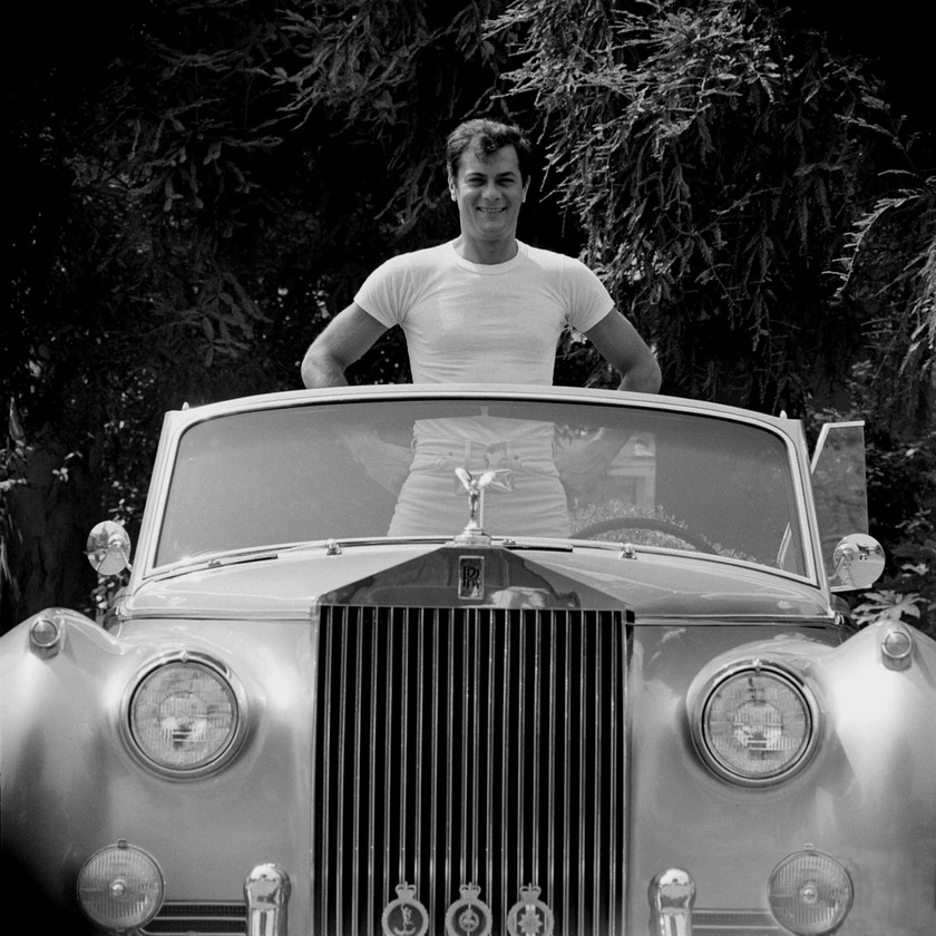 Tony Curtis and His Rolls Royce, by Ralph Crane,1961