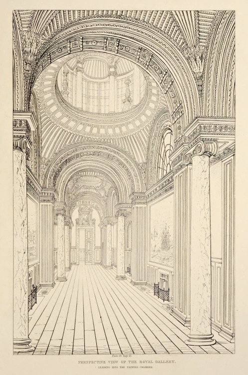 Architectural plans – drawing of a royalhall