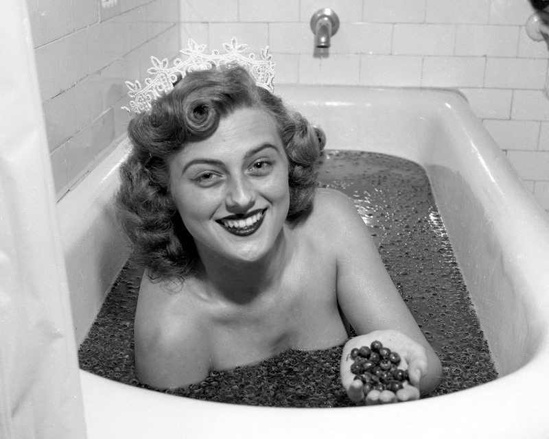 The sensuousness of bathing with blueberries while wearing a tiara (people in Maine do it all the time, I'mtold)