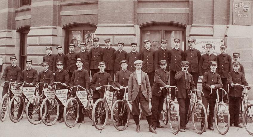 Bike messengers, Boston