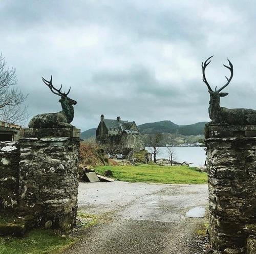 Entrance to a royal hunting lodge,Scotland