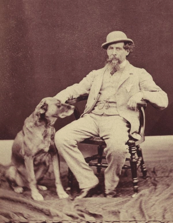Charles Dickens and his dog