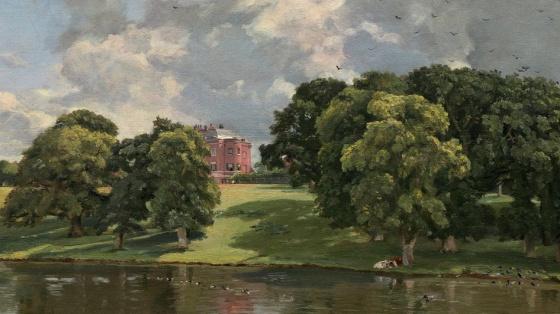 "Constable's painting, ""Wivenhoe Park, Essex"" (1816) 2"