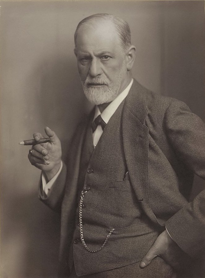 Sigmund Freud, with a phallus