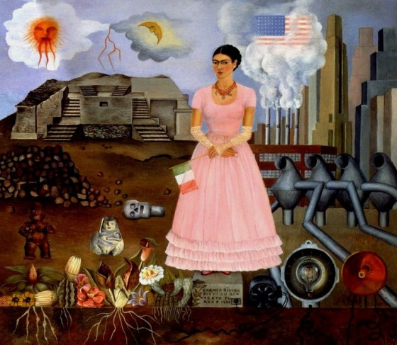 Frida Kahlo Self Portrait Along the Border Line Between Mexico and the United States 1932