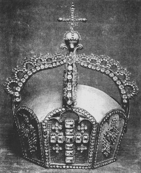 Prussian/German royal crown that was destroyed in WWII