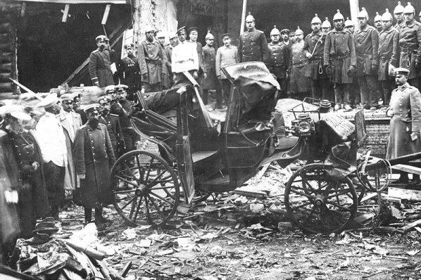 Carriage in which Grand Duke Sergei Alexandrovich was riding when someone threw a bomb at him and killed him,1905
