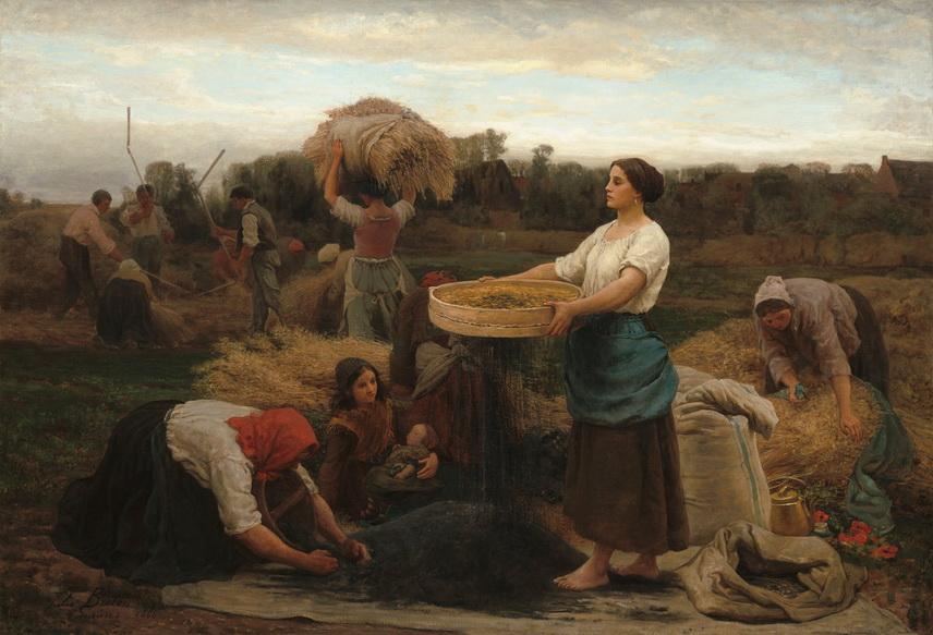 "Jules Breton  ""The Colza (Harvesting Rapeseed)"", 1860"