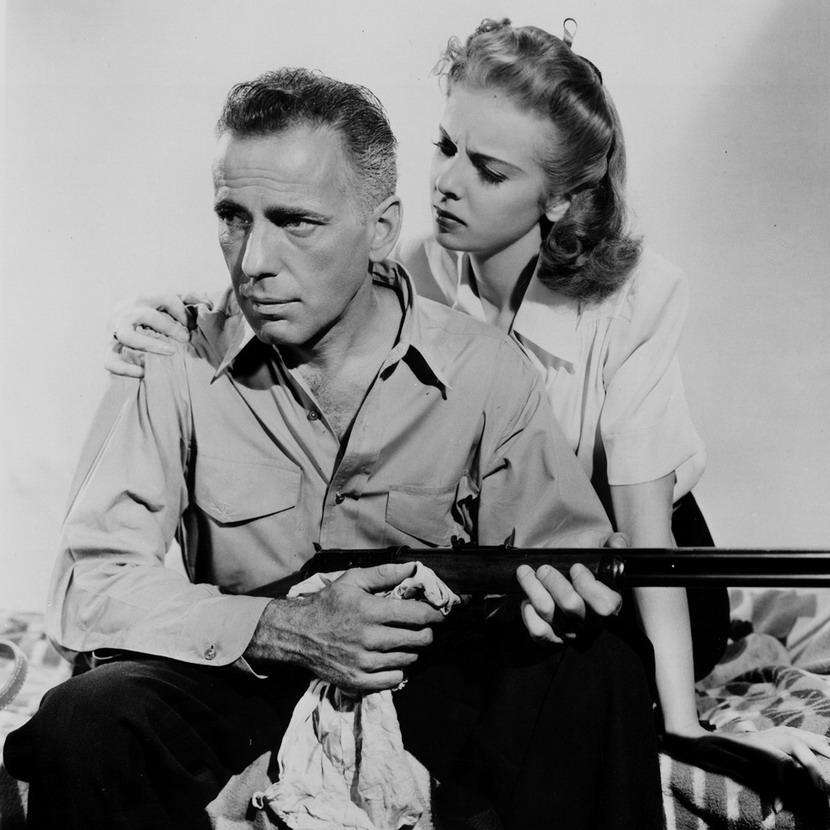"Humphrey Bogart and Ida Lupino in  ""High Sierra"",1941"