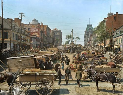 Jacques Cartier Square, Montreal, Canada in 1900