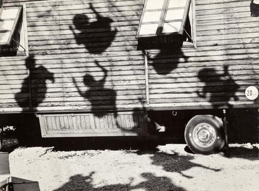 """Jon Naar, """"Shadows of Children on Swings"""", Munich,1963"""