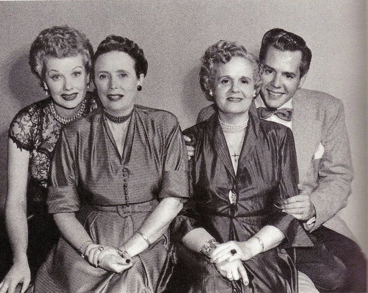 Lucille Ball and Desi Arnaz with theirmothers