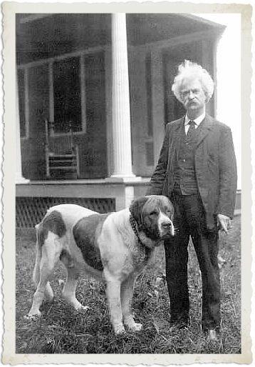 Mark Twain/Samuel Clemens with hisdog