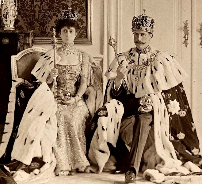 Queen Maud and King Haakon VII of Norway,1910s