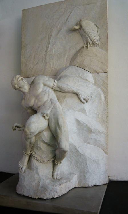 Reinhold Begas (1831-1911). Der gefesselte Prometheus, 1900.