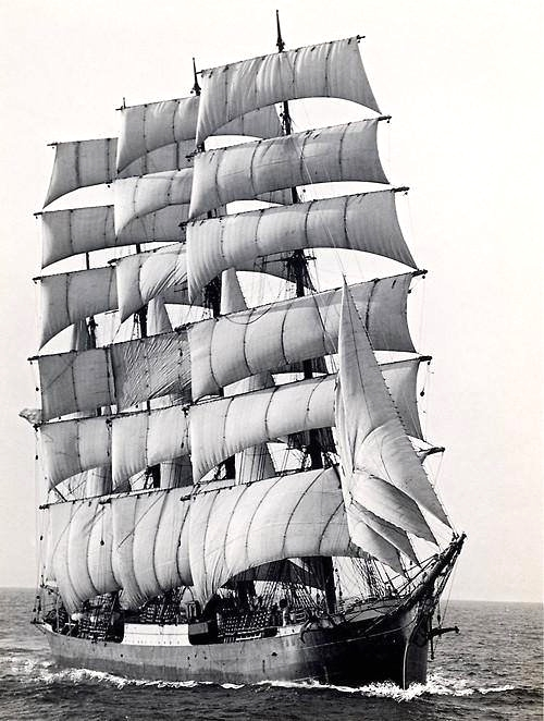One of the last large sailing cargo ships, 1949