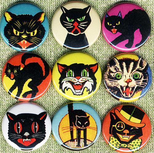 Black Cat Pins